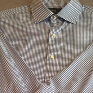 Light Blue Gingham Ralph Lauren Polo dress Shirt